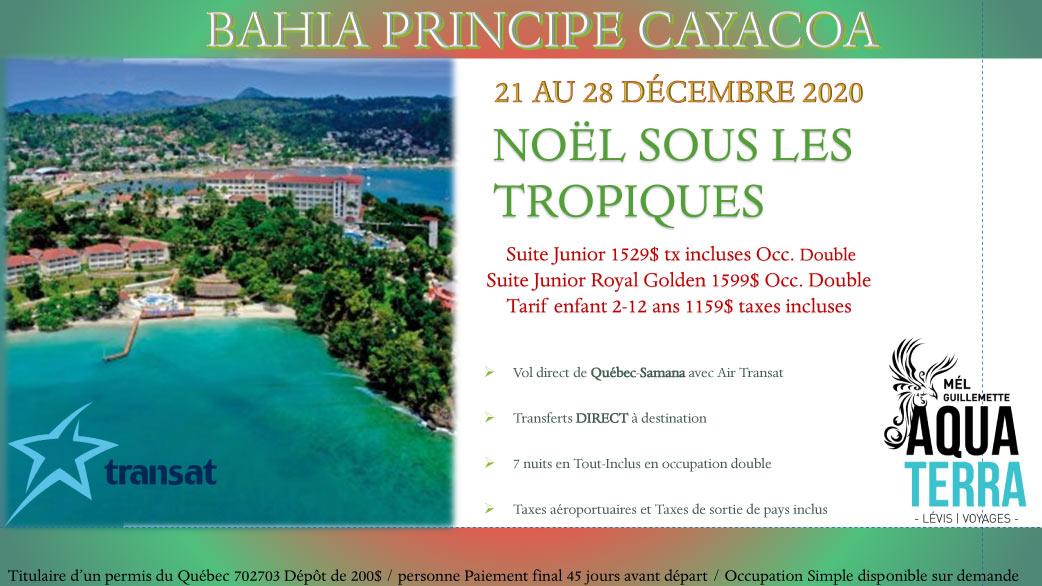 Partez en voyage au Bahia Principe Cayacoa du 21 au 28 décembre 2020 - Noël sous les tropiques